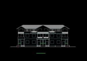 四联别墅建筑cad方案图