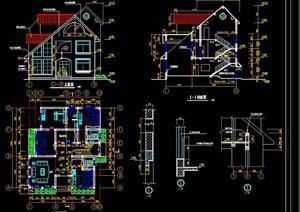 某别墅结构建筑cad施工图