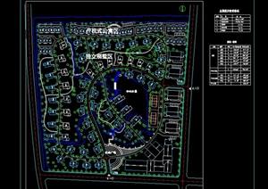 某别墅小区的总体cad规划图