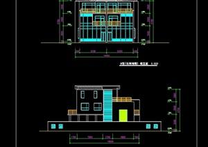 独栋联体别墅建筑cad方案图