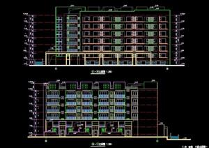 多层住宅楼建筑cad方案图