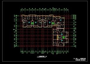 现代详细完整的居住建筑楼设计cad方案