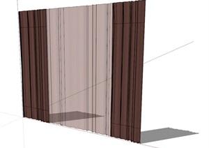 某室内窗帘素材SU(草图大师)模型