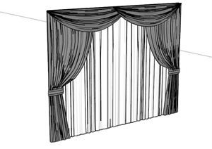 室内窗帘素材SU(草图大师)模型
