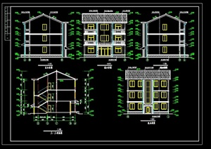 农村别墅建筑设计cad施工图
