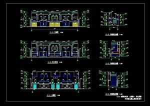 现代联排别墅设计cad方案详图