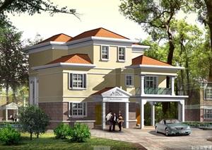 独栋别墅建筑cad施工图设计