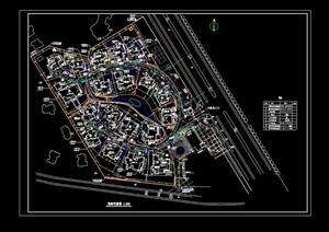 别墅综合规划cad布置图