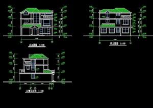 独栋多层别墅简单cad方案
