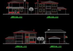 独栋欧式多层别墅cad方案