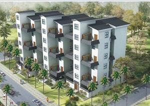 中式住宅小区居住建筑jpg方案