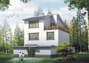 独栋多层中式别墅设计jpg方案