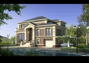 某别墅建筑楼设计psd效果图
