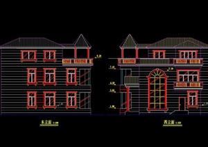 经典独栋别墅cad方案图