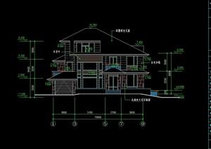 三层日式别墅全套建筑cad方案图