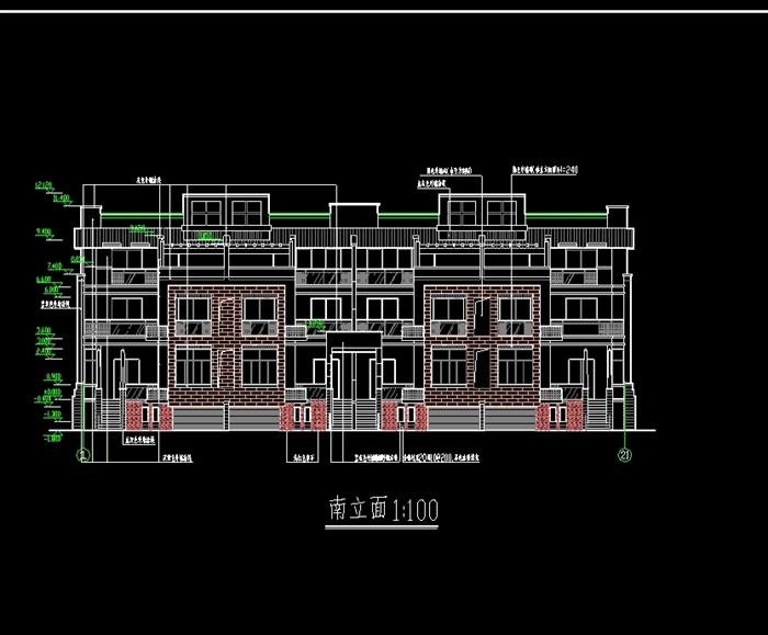 杭州精品排屋别墅cad施工图(2)