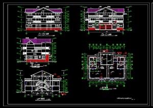 三层双拼别墅施工图