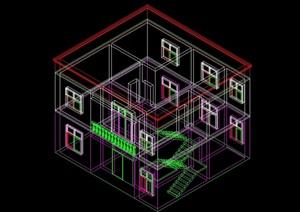 小型别墅整体结构图