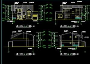 独栋别墅建筑设计cad方案