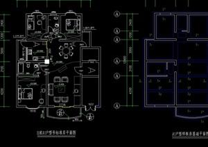 某现代别墅样板房cad竣工图