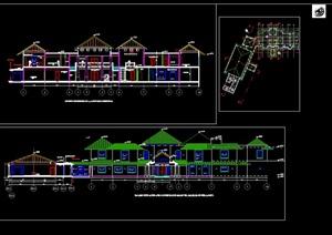 欧式总统别墅建筑cad方案图