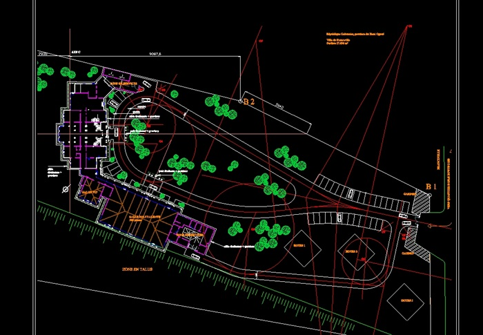 欧式总统别墅建筑cad方案图(3)