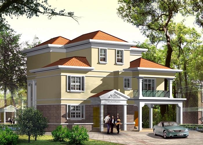 独栋别墅cad施工图设计(1)