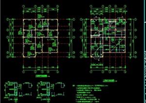 别墅详细建筑设计cad结构图