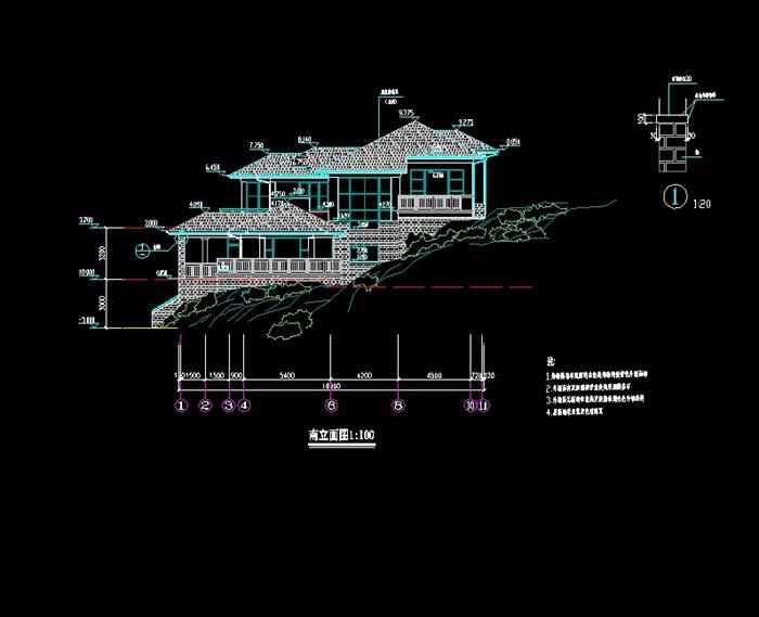 某别墅建筑cad施工图(3)