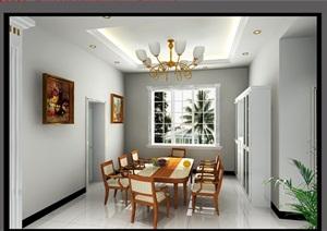 一套现代欧式混搭风格别墅室内设计cad施工图带效果图