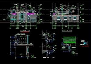 独栋别墅详细设计cad施工图