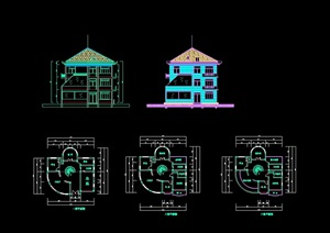 别墅独栋设计cad方案图