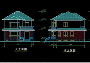 独栋别墅cad方案图纸