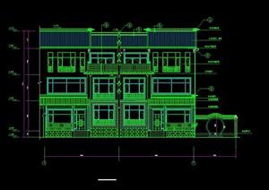 某高档别墅建筑设计cad施工图