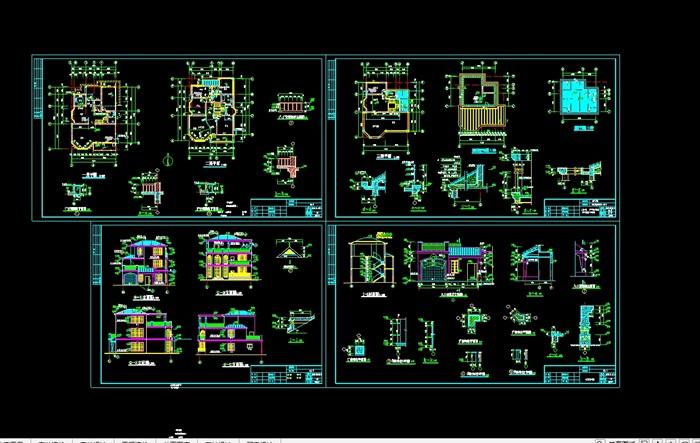独栋别墅建筑设计cad施工图(3)