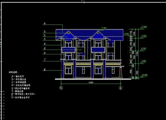 某山庄别墅建筑cad施工图(1)