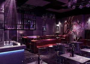 本色风格酒吧室内设计cad施工图