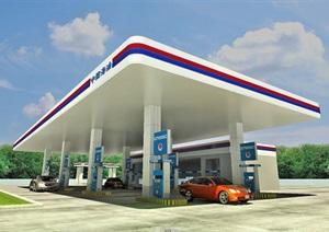 中海油加油站3D模型