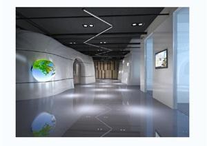 鹏程住工工业化材料江苏有限公司展厅设计cad施工图