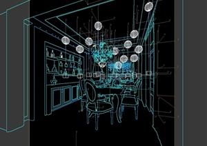 欧式住宅餐厅空间设计3d模型