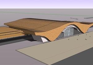现代风格机场建筑设计SU(草图大师)模型