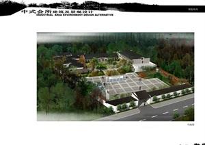 中式会所建筑及景观设计jpg方案