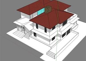 独立别墅模型