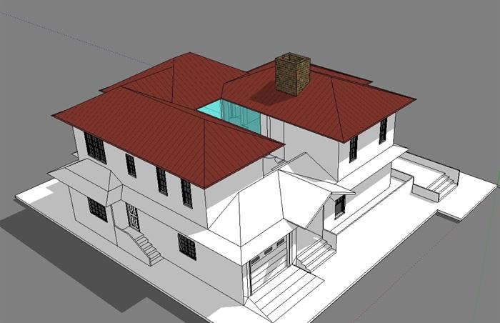 独立别墅模型(2)