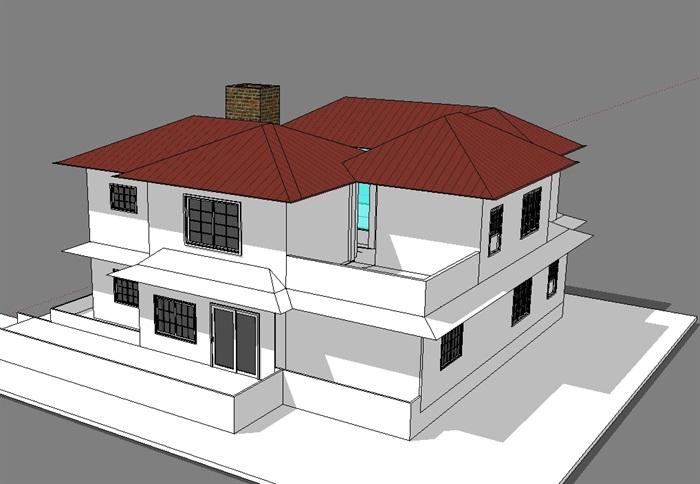 独立别墅模型(3)