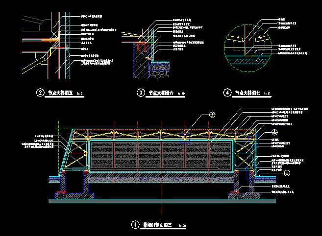 现代景墙施工详图(4)