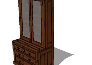 某室内装饰柜子设计SU(草图大师)模型