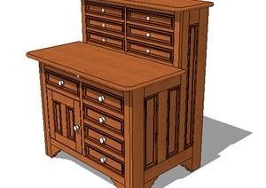 经典木质柜子设计SU(草图大师)模型