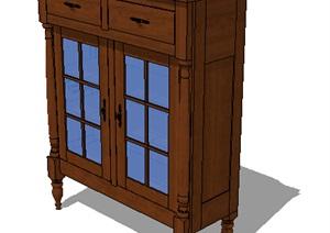 某欧式家具柜子SU(草图大师)模型