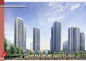 某城市住宅绿洲规划建筑设计jpg方案高清文本